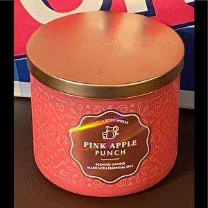 B&BW Pink Apple Punch Three Wick Scented Candle
